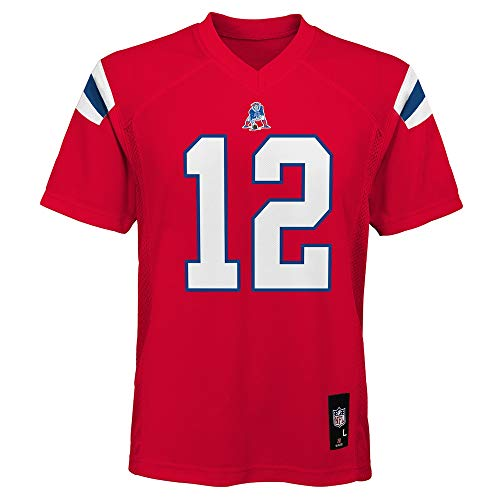 Tom Brady New England Patriots NFL Youth Red Alternate Mid-Tier Jersey (Youth Medium 10-12)