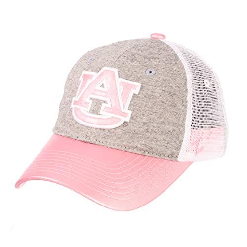 - Zephyr NCAA Auburn Tigers Women's Sasha Relaxed Hat, Adjustable, White/Pink/Grey