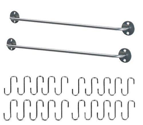 Ikea Steel Kitchen Organizer Set  Rails And  Hooks