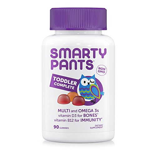 Complete Toddler System - SmartyPants Toddler Gummy Vitamins Complete: Multivitamin & Omega-3 EPA/DHA Fish Oil, Vitamin D3, Vitamin B12, 90 Count (30 Day Supply)