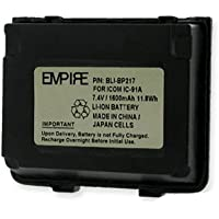 Icom IC-T90A 2-Way Radio Battery (Li-Ion 7.4V 1600mAh) Rechargeable Battery - replacement for Icom BP217 Battery