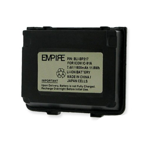 Icom IC-91AD 2-Way Radio Battery (Li-Ion 7.4V 1600mAh) Rechargeable Battery - Replacement for Icom BP217 Battery
