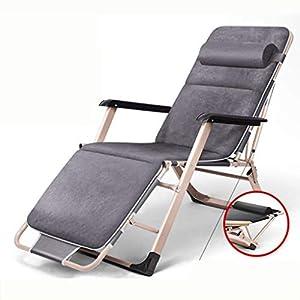 MXueei Regolabile Poltrona Chaise, con poggiatesta Sedia gravità bracciolo reclinabile Lounger Zero Nap Bed Sedia… 6 spesavip