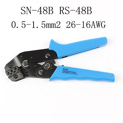 LUBAN Ratcheting Wire Terminal Crimper for SN-48B RS-48B 26-16 AWG (RS-48B) by LUBAN (Image #3)