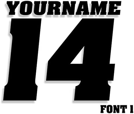 Number Decals Custom Choice Choices product image