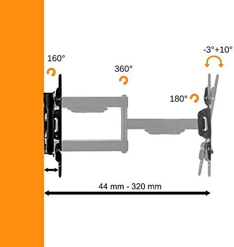 ATHLETIC Ultra Delgado Soporte de TV de Montaje de Inclinación Giratoria – para la Mayoría de Pantallas LED, LCD y Plasma de 14-32 Pulgadas con VESA Máx. 100x100mm: Amazon.es: Electrónica