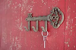 Decorative Wall Mounted Skeleton Key Holder | Vintage Key With 3 Hooks | Wall Mounted | Rustic Cast Iron | 7.9 x 4.1"|256|170|?|en|2|a6a319fd629c5e98a9abbceb2cda6de4|False|UNLIKELY|0.31792497634887695