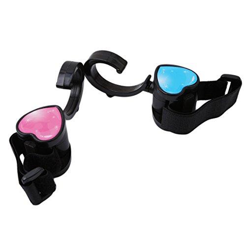 CH Black Heart Shape Stroller Hook 2 Pack of Multi Purpose Hooks Hanger for Baby Diaper Bags Clothing, Purse, Shopping