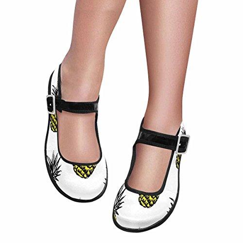 Interestprint Mujeres Comfort Mary Jane Flats Zapatos Casual Para Caminar Multi 3