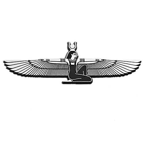Winged Isis Chrome Auto Emblem - 5.75