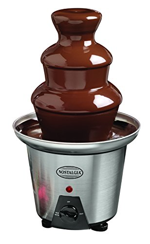 Nostalgia CFF960 3-Tier 1.5-Pound Capacity Stainless Steel Chocolate Fondue Fountain