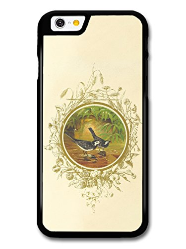 Classic Retro Vintage Illustration of Birds in Water with Floral Livery case for iPhone 6 6S