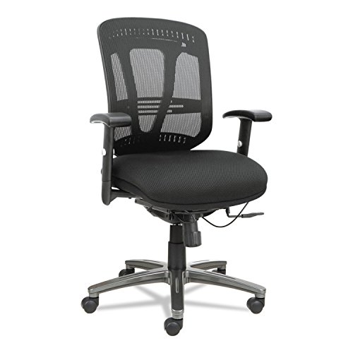 Alera Eon Series Multifunction Wire Mechanism, Mid-Back Mesh Chair, Black