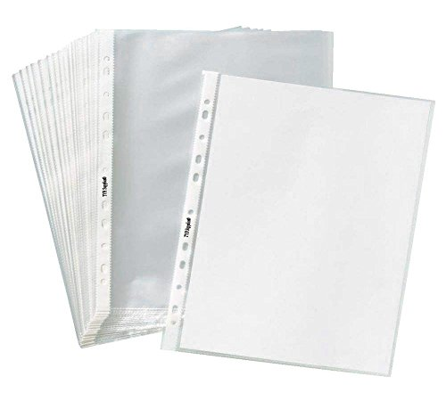 TYH Supplies Box of 200 Economy 11 Hole Non Glare Matte Top loading Poly Office Page Sheet Protectors, 8-1/2
