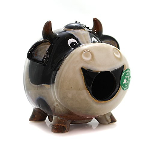 - Home & Garden Cow Birdhouse. Ceramic Cleanout Hole Home D2572.