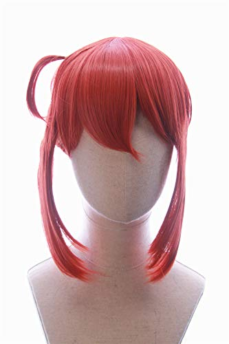CosplayWigsCom: Kobayashi of Miss Kobayashi's Dragon Maid Inspired Salmon Pink Wig with Two Short Bangs and a Thin Ponytail Halloween Anime Cosplay Hair for Women and Teens -