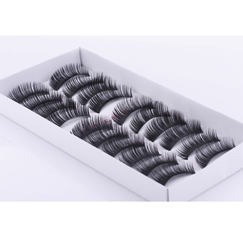 Fashion Party 10 Pairs Handmade Natural Real Hair False Eyelashes Eye Lashes