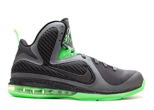 Nike Lebron 9, Antraciet / Zwart / Volt Donkergrijs, Zwart-volt