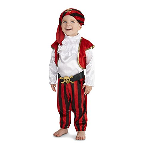 [Pirate Captain Toddler Costume 2-4T] (Pirate Clothing And Accessories)