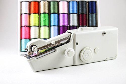 Portable Handheld Sewing Machine and Mini Hand Held Sew Machines Kit with Thread Accessories for Adults Or Kids for Stitching, Embroidery, Quick Repairs and Fun Projects by Stitch, Sew n Go