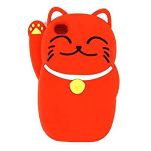 Cell Armor 4S/4-NOV-D22-RD Hybrid Novelty Case for iPhone 4/4S - Retail Packaging - Red Cat by Maris's Diary