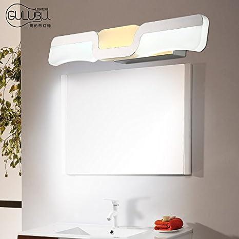 TYDXSD Espejo luces led baño iluminación minimalista moderno cuarto de baño minimalista pared espejo gabinete maquillaje espejo luces 465mm / 530mm ...