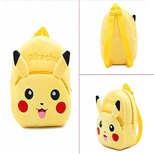 Homekit Children Plush Backpack Cute Toddler School Bag Cartoon Animal Nursery Shoulder Bag Baby Mochila Boy Girl Kids Backpacks (Pikachu)