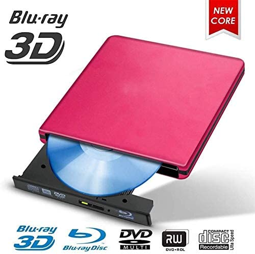 KJRJFD USB 3.0 BD/CD/DVDドライブバーナーは、Mac / Windowsの10 /ラップトップ/PC光学ドライブプレーヤーライター用メタルクロームポリッシュ