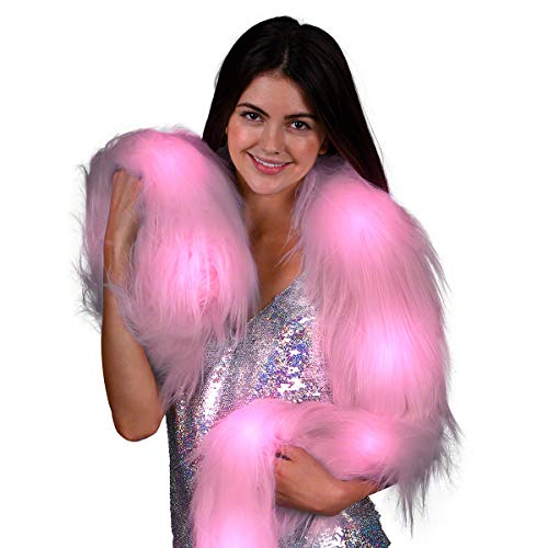FlashingBlinkyLights Pink Glam Light Up LED Faux Fur -