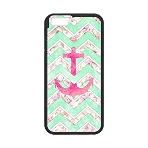 Diy Retro Chevron Anchor Phone Case for iphone 6 Plus (5.5 inch) Black Shell Phone JFLIFE(TM) [Pattern-1]