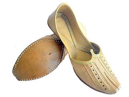 Step N Style Heren Effen Pure Buffalow Lederen Zachte Khussa Schoenen Punjabi Jutti Mojari