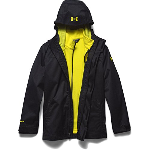 Under Armour Youth ColdGear Infrared Wildwood 3-In-1 Hooded Jacket Black / Sunbleached Medium by Under Armour