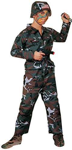 [Forum Novelties Forest Camo Soldier Costume, Child Medium] (Child Army Soldier Costumes)