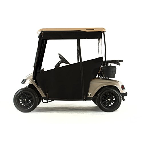 EZGO TXT Golf Cart PRO-TOURING Sunbrella Track Enclosure - Black-BLK
