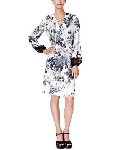 Silk Peasant Dress - Kobi Halperin Silk Lace-Trim Peasant Dress (Blue Multi, L)