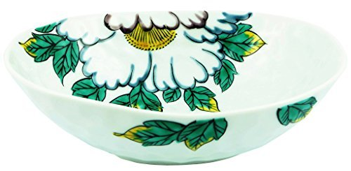 Kutani Yaki Peony 7.3inch Large Bowl Porcelain Made in Japan (Bowl Peony Vegetable)
