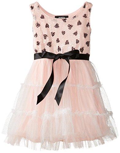 Toddler & Preschool Girls Tiered Tutu Heart Dress
