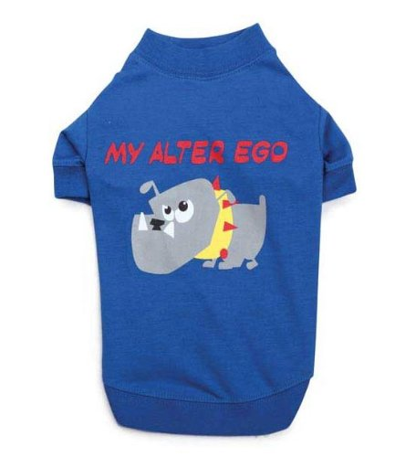 Casual Canine ZM3438 14 19 Alter Ego Tee for Dogs, Small/Medium, Blue by Casual Canine (Image #1)