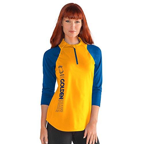 NBA Golden State Warriors Women's Zip It Up 3/4 Sleeve Tee, XX-Large, (3/4 Sleeve Zip Jacket)