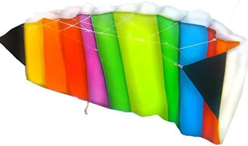 perfekt f/ür Kinder Anaterra Lenkdrachen 120 x 50 cm Leichter Drachenflieger Flugdrachen in Regenbogenfarben
