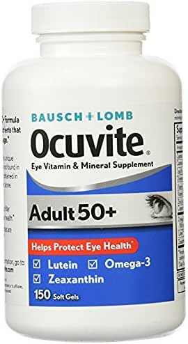 Bausch & Lomb Ocuvite Adult 50+ Eye Vitamin & Mineral Supplement - 2 Bottles, 150 Softgels Each