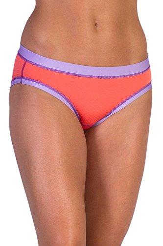 ExOfficio Women's Give-N-Go Sport Mesh Bikini Brief, Hot Coral, X-Small