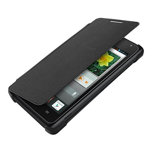 kwmobile Practical and chic FLIP COVER case for Huawei Ascend Y530 in black