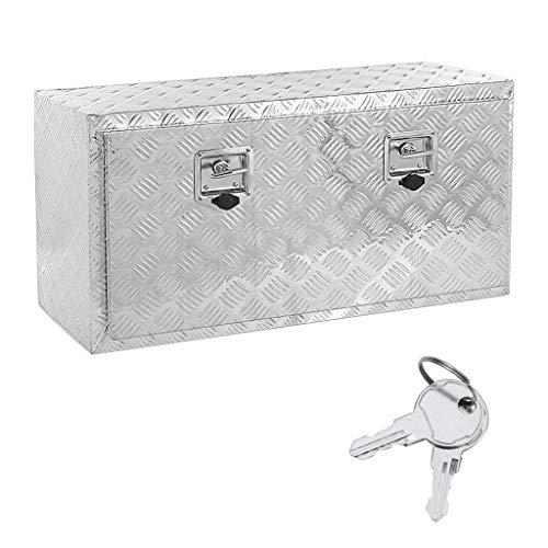 Heavy Duty Aluminum Truck Tool Box,TADAMI Trailer Tool Box with Lock Truck Bed Tool Box w/Lock Keys