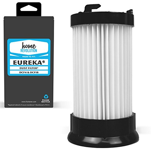 Home Revolution Replacement Dust Cup Filter, Fits Eureka Maxima, Boss & Lightspeed Models and Parts DCF-4, DCF-18, GE DCF-1 -