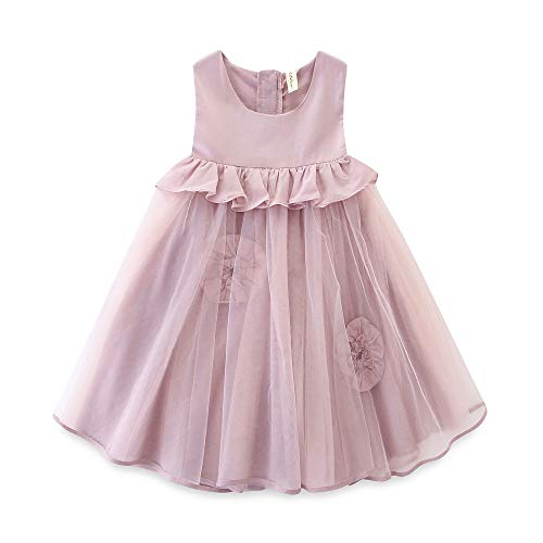 - Toddler Flower Girl Tulle Dress Summer Sleeveless Tank Top Princess Party Dress