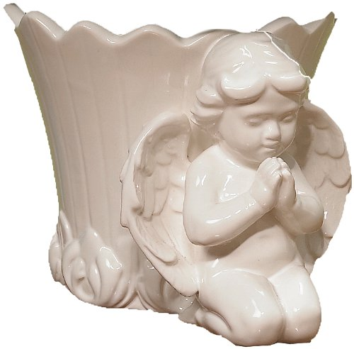 Cherub Praying - Napco 6-Inch Tall Ceramic Cherub Decorative Cache