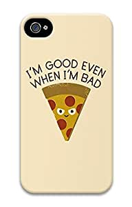Bad Pizza PC Case Cover for iPhone 4 and iPhone 4s