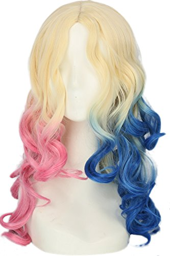 The Heat Movie Halloween Costume (Harley Movie Cosplay Blue Pink Wig Hair Costume Accessories Halloween Coslive)