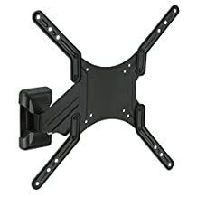 Mount-It! MI-341 Height Adjustable Swivel Full Motion Articulating Tilting TV Computer Monitor Wall Mount Bracket for 20 - 50 inch Screen LCD LED Plasma 3D Flat Panel Screens (VESA Standard up to 400x400mm), 33 lb Weight Capacity, Black